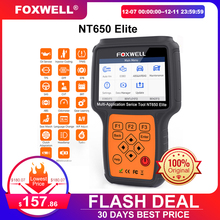 Foxwell NT650 Elite OBD2 Code Reader Scanner Engine Abs Airbag Epb Olie Tpms 20 Reset ODB2 Diagnostic Tool Obd Automotive scanner