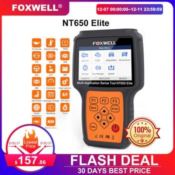 Foxwell NT650 Elite OBD2 Code Reader Scanner Engine ABS Airbag EPB Oil TPMS 20 Reset ODB2 Diagnostic Tool OBD Automotive Scanner