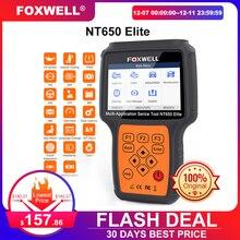 Foxwell NT650 Elite OBD2 Mã Máy Quét Động Cơ ABS Túi Khí EPB Dầu TPMS 20 Đặt Lại ODB2 Công Cụ Chẩn Đoán OBD Ô Tô máy Quét
