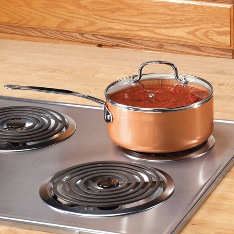 Nonstick Copper Ceramic Coated Cookware Pan With Induction Compatible And Dishwasher Safe Oven Safe 2019 Bestselling