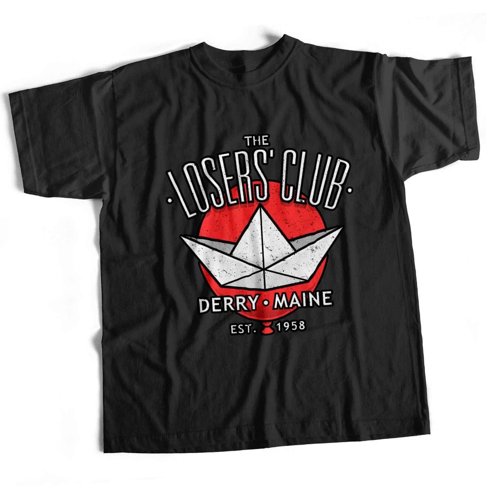 Si Stephen King Pennywise Horror Christine Movie Film Perdenti Club T Shirt nero 100% camicia di T del cotone, parti superiori del commercio all'ingrosso tee