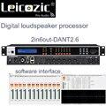 Leicozic DANTE2.6 2in 6out USB цифровой DSP процессор динамик процессор программного управления processador аудио RS232  RS485 AC220V