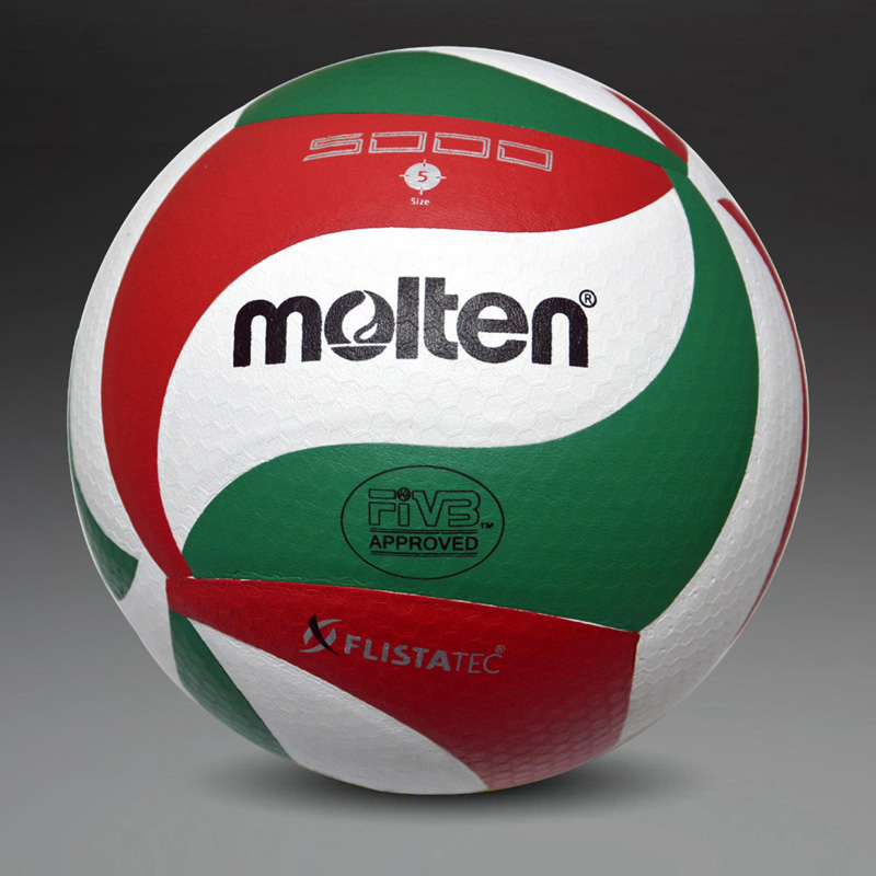 Volleyball-Ball MOLTEN VSM5000 Soft with Net-Bag Needle Size5 Match-Quality Touch Touch