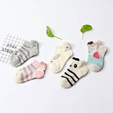 1 пара новых детских Хлопковых Носков для мальчиков и девочек детские модные спортивные носки с рисунками животных для малышей, подарки для детей