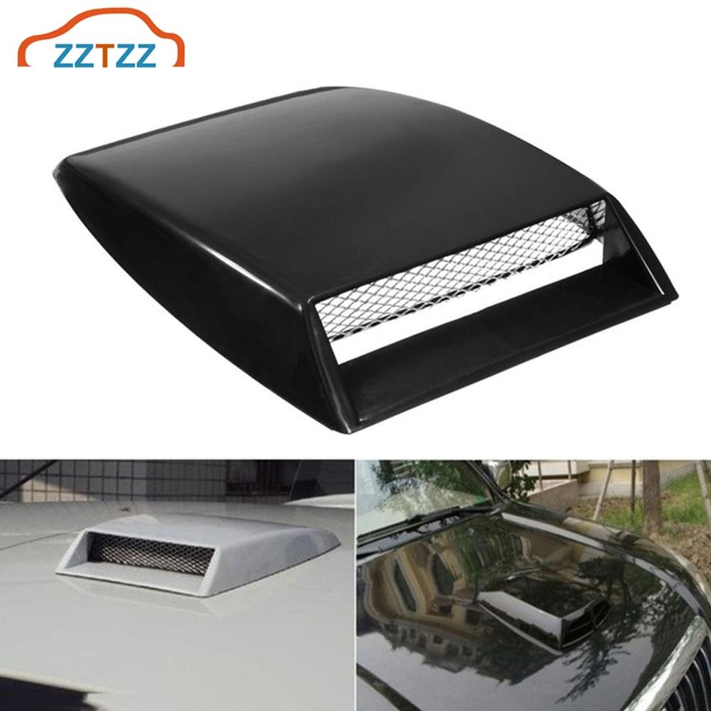 White Qiilu Decorative Air Flow Intake Scoop Bonnet Car Air Flow Sticker Universal Car Vent Sticker Cover Hood