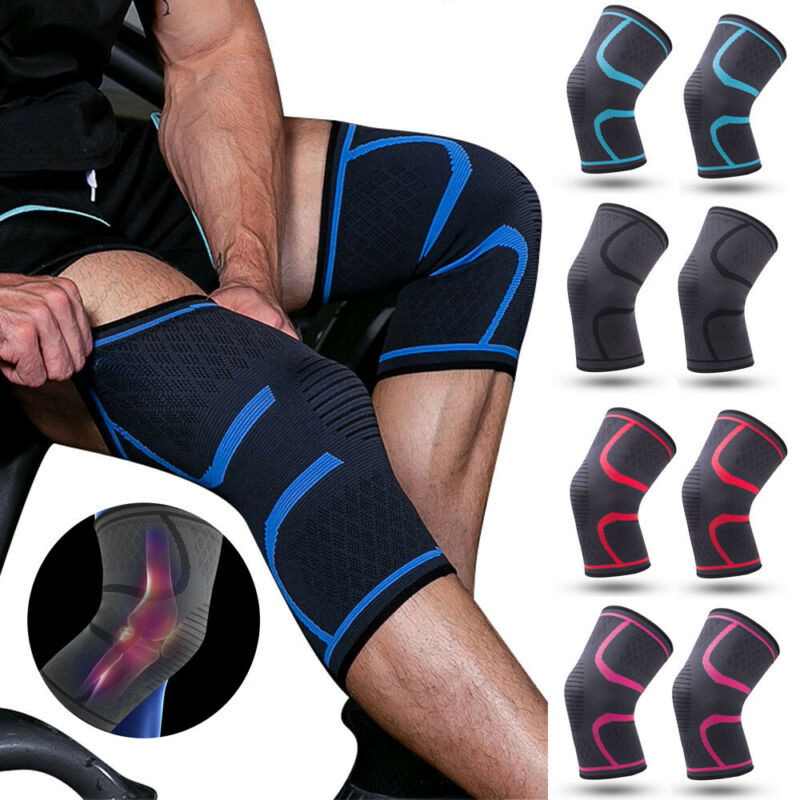 1 Piece Elastic Knee Pads Nylon Sports Fitness Knee Pads Fitness Knee Sleeve Women Brace Running Basketball Volleyball Knee Pads