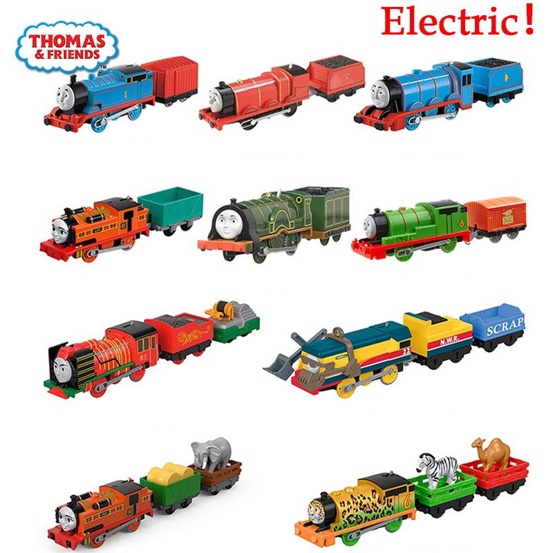 Original Thomas and Friends Electric Battery Train Track Master <font><b>1:43</b></font> Diecast Motor Metal Model <font><b>Car</b></font> Material Kid Toys for Boys image