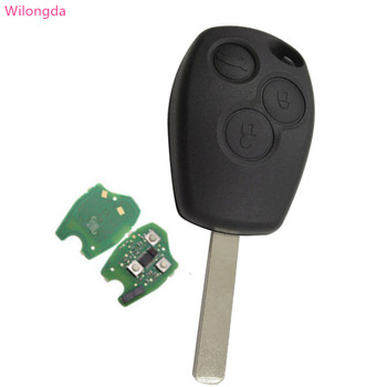 Wilongda Car key 3 button remote key 434mhz pcf7961 7961 HITAG AES Chip car accessories for Renault  Key