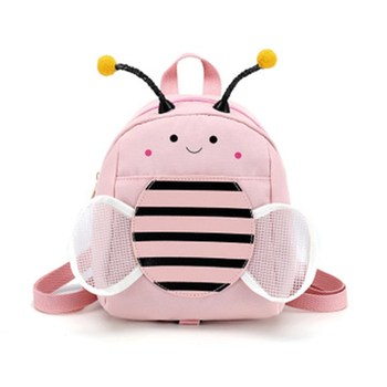 Fashion Portable Cute Children Backpack Kindergarten Anti-lost Bee For Girls Small Schoolbag Waterproof Wear-resistant Pink Bags a psalm for lost girls