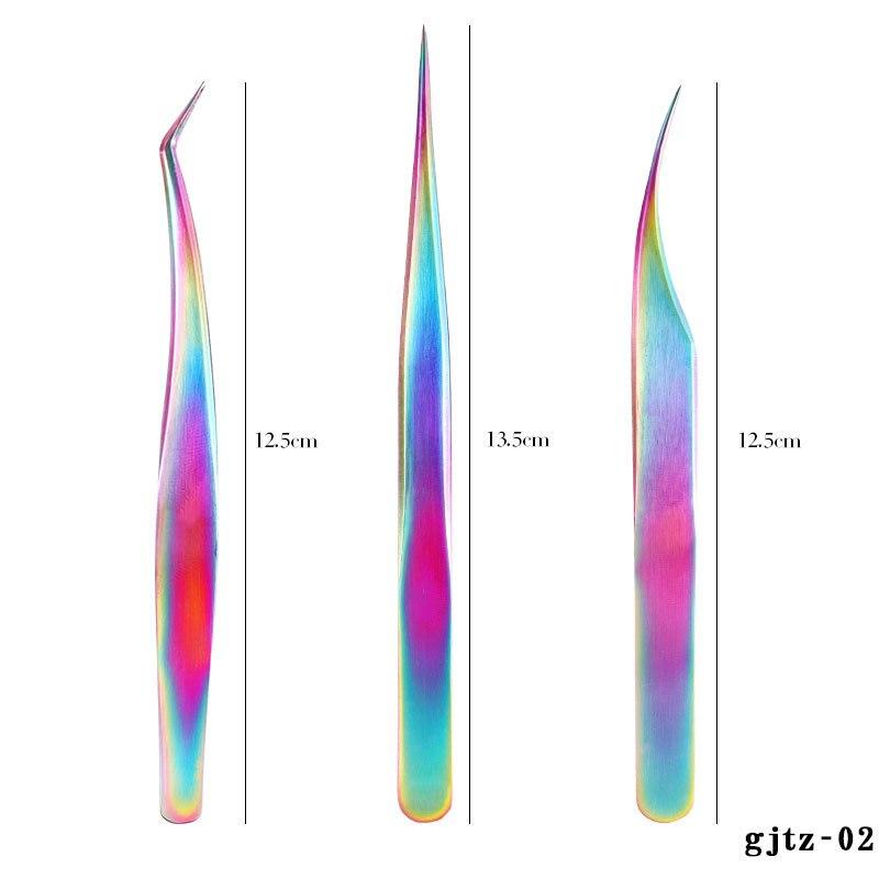 Prego clippers luva de aço inoxidável sete-color