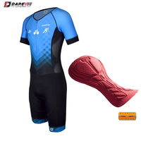 Darevie Triathlon Suit Cycling Triathlon Skinsuit Pro ELASTIC INTERFACE Tri Italy Pad up to 6 Hours Riding Cycling Tri Quick Dry