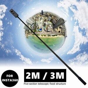 Image 1 - Новая портативная невидимая селфи палка 2 м/3 м ручка вращающаяся палка для Insta360 ONE R X GoPro Hero 9 8 7 6 Аксессуар