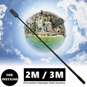 Image 1 - חדש 2M/3M נייד Invisible Selfie מקל ידית כדור זמן סיבוב חדרגל עבור Insta360 אחד R X goPro גיבור 9 8 7 6 אבזר