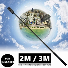 New 2M/3M Portable Invisible Selfie Stick Handle Bullet Time Rotation Monopod For Insta360 ONE R X GoPro Hero 9 8 7 6 Accessory