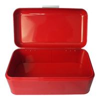 Gift Practical Vintage Storage Box Large Capacity Holder Saves Space Tin Holiday Metal Kitchen Bread Bin Square Shape Container