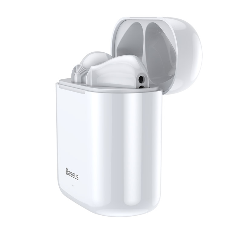 Baseus encok w09 tws wireless bluetooth earphone intelligent touch control wireless tws earphones with stereo bass sound smart connect