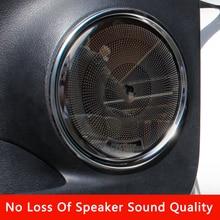 QHCP רכב סטריאו רמקול כיסוי אודיו רמקול צליל דקורטיבי לקצץ נירוסטה לקסוס NX200 300 300H 2014 2020 אביזרים