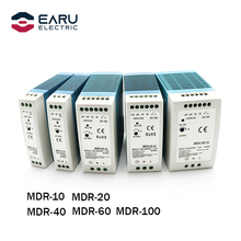 AC 100-240V Eingang Mini Din Schiene Schalter Netzteil Spannung Transformator MDR-10W 20W 40W 60W 100W DC 5V 12V 15V 24V 36V 48V Ausgang