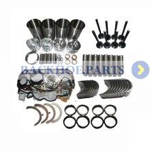 Rebuild Kit Overhaul Para Isuzu 4JB1 2.8L Não Turbo Do Motor Escavadeira Carregadeira Bobcat Mustang