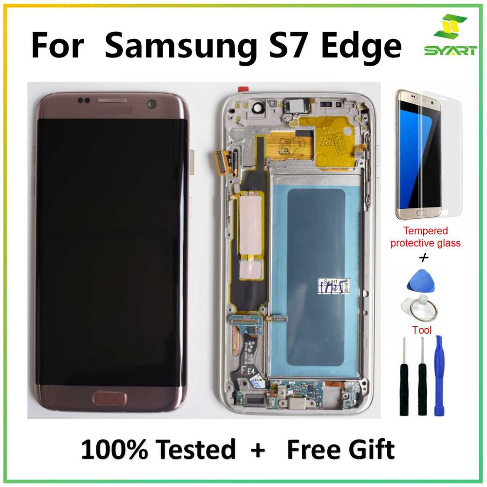 For Samsung Galaxy S7 Edge Screen Super AMOLED 5.5
