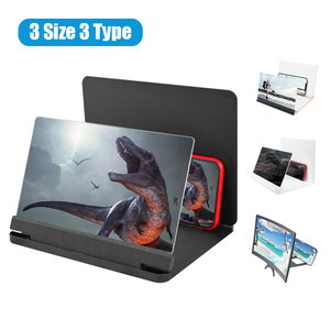 """12 inch Mobile Phone 3D Screen Video Magnifier 8/9""""Folding Curved Enlarged Smartphone Movie Amplifying Projector Stand Bracket(China)"""