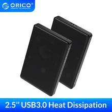 цена на ORICO 2.5 inch SATA to USB 3.0 HDD SSD Case for Samsung Seagate SSD 2TB 4TB Hard Disk Drive Box External HDD Enclosure Full Mesh