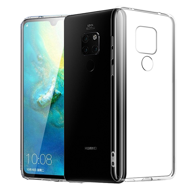 Silicone Phone Case for Huawei Mate 20 Pro Lite Mate20 X Soft TPU Cover Clear Transparent 360 Full Protective Back Gel Conques