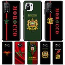 Coque de téléphone pour Xiaomi, étui à passeport avec drapeau marocain pour Mi Poco X3 NFC M3 F3 10T Pro 9T 11 Ultra 10S 11i Note 10 Lite 5G