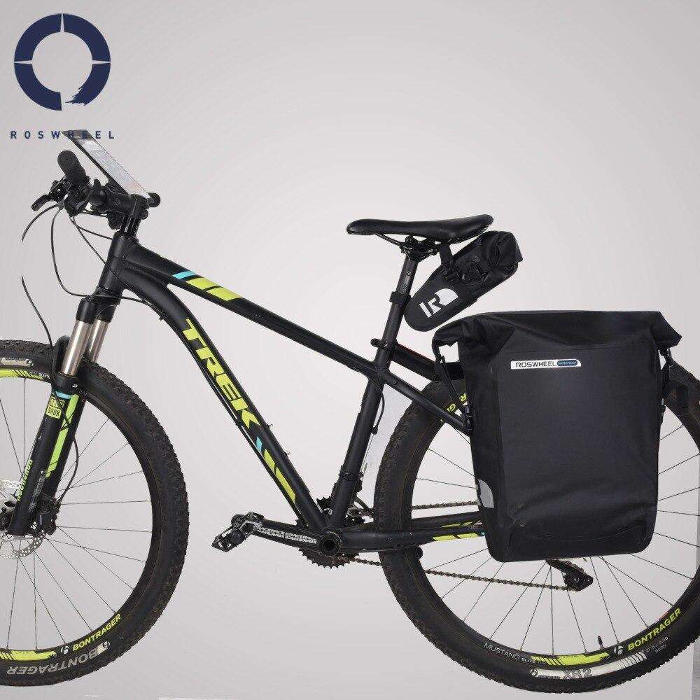 Roswheel Dry Series Full Waterproof Bike Bicycle Cycling Saddle Pannier Rear Seat Handlebar Bag Trunk Phone Case Holder