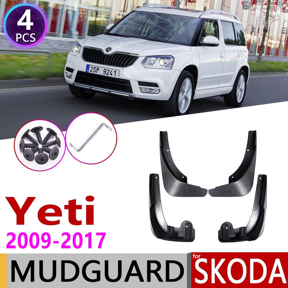 Mudflap For Skoda Yeti 5L 2009~2017 Fender Mud Guard Splash Flaps Mudguards Accessories 2010 2011 2012 2013 2014 2015 2016 2017