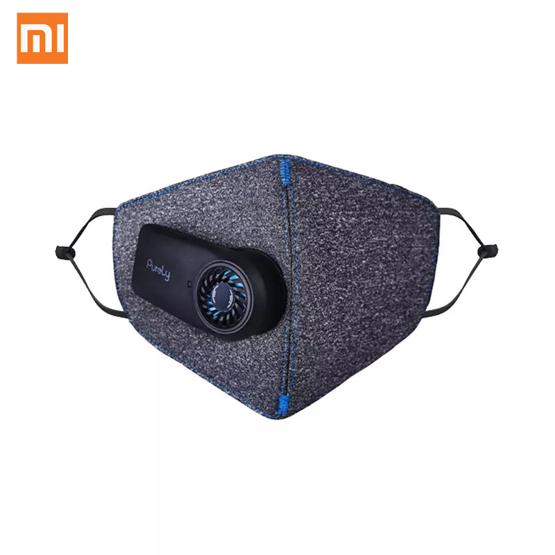 Original Xiaomi Purely Air Pollution Mouth Face Mask Rechargeable Anti Dust Air Breathing Purifier Mask PM2.5 Filter For Outdoor