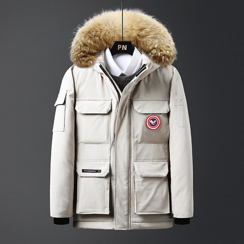 2019 Down Jackets Men Winter Jacket Men Fashion Thick Warm Parkas Fur White Duck Coats Casual Man Big Size Down Jackets 4xl