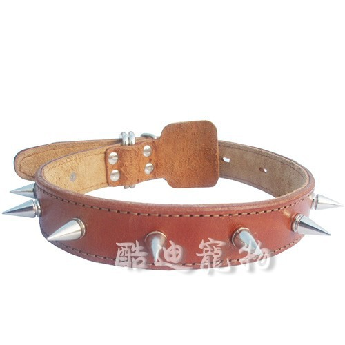 Bullet Neck Ring Cowhide Collar Spike Neck Ring Pet Collar Dog Collar Small Wholesale Bullet Collar
