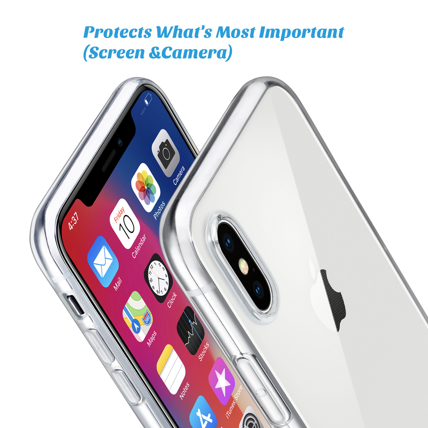 "H2e7a07ec385d41d988f4c1ac906ea7e5G - For iPhone X Case, WEFOR Slim Clear Soft TPU Cover Support Wireless Charging for Apple 5.8"" iPhone X /iPhone 10"