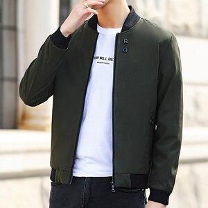 Image 4 - MANTLCONX plus récent solide automne hommes vestes mâle décontracté fermeture éclair été veste hommes printemps décontracté Outwear hommes mince veste homme automne