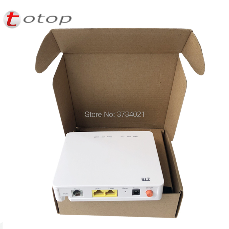 Free Shipping ZTE F612 V6 Version 1GE+1FE+1Tel Port 100% New GPON Terminal FTTH ONT Application To FTTH Mode, Engels Versie