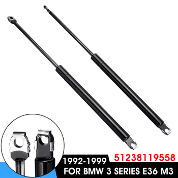 1Pair Car Front Engine Hood Lift Supports Props Rod Arm Gas Springs Shocks For BMW E36 316i 318i 323i 325i 328i M3 51238119558 image