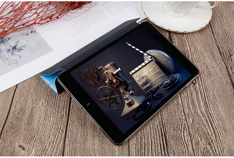 Flip leather iPad QIJUN inch Stand 10.2 Cover 2020 Painted For iPad PU 8th For Gen Case