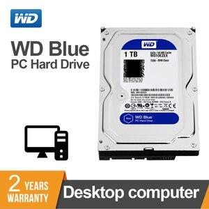 Image 1 - 1TB WD Blue 3.5 SATA 6 กิกะไบต์/วินาที HDD sata ฮาร์ดดิสก์ภายใน 64M 7200PPM ฮาร์ดไดรฟ์เดสก์ท็อป hdd สำหรับ PC WD10EZEX