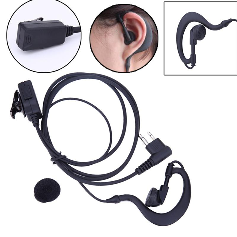 Kuulee 2 Pin Acoustic Tube Earpiece Mic PTT Headset For Motorola Radios GP88 GP300 Walkie Talkie Earpiece