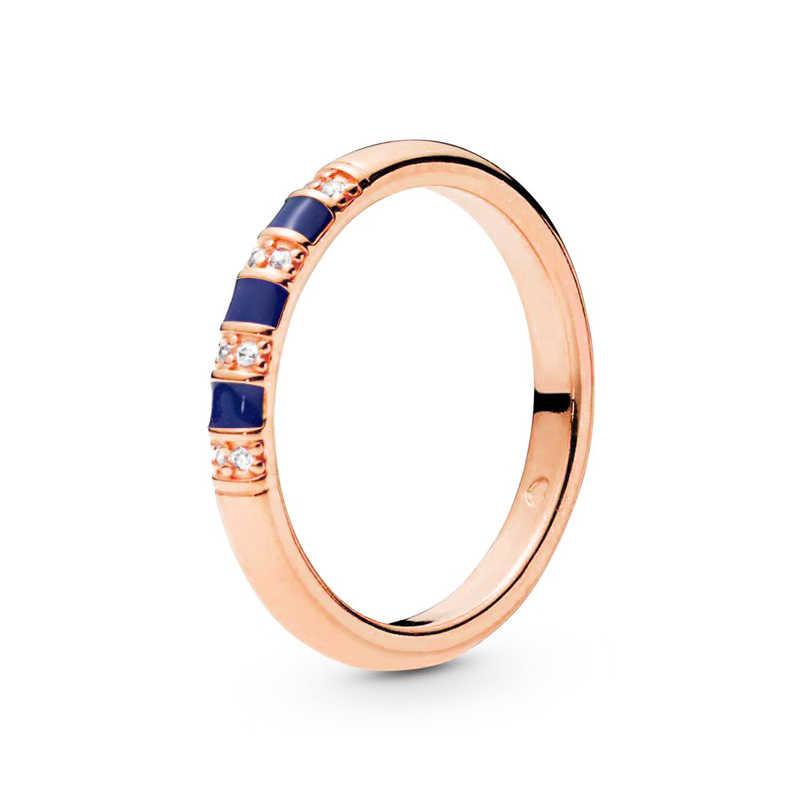 ใหม่ Rose Gold Bowknot โรแมนติกแหวนมงกุฎสำหรับสตรีคริสตัล Fine Finger แหวนเครื่องประดับของขวัญพิเศษ
