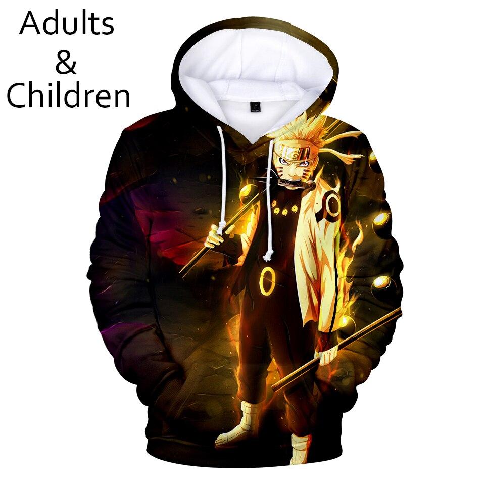 3D Printed Anime Naruto Hoodies Men Women Sweatshirt Fashion Kids Hooded Autumn Casual 3D Naruto Harajuku Hip Hop Boys Pullovers