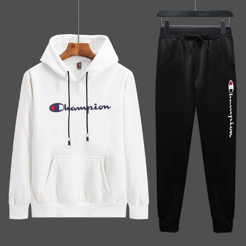 Autumn And Winter School Season MEN'S Long Sleeve Hoodie Students Trousers Sports Set Large Size M-4xl Leisure Suit