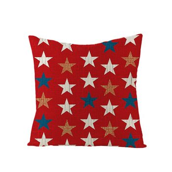 American Independence Day Linen Pillow Case Nordic Simple Sofa Cushion Cover Custom Houseware Decoration image