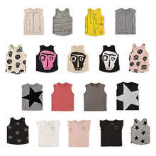 NU – T-shirt col rond sans manches pour enfants, en coton, avec dessin animé imprimé, nouvelle collection 2020