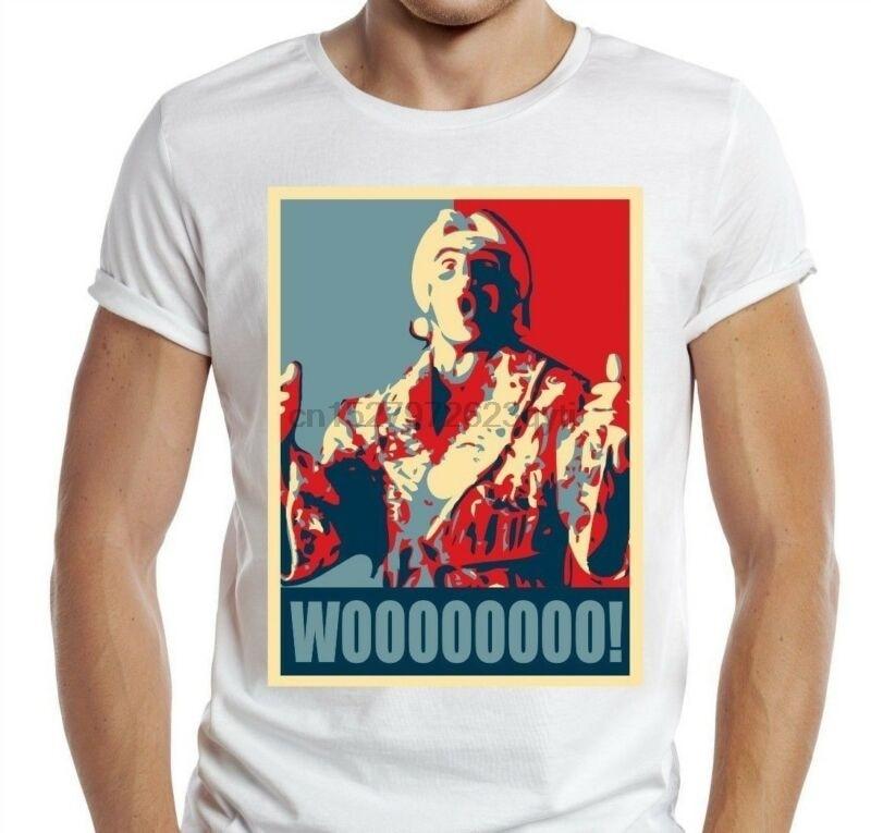 Wooo T-Shirt Ric Flair Funny t shirt retro wrestling nature boy classic WWF(China)