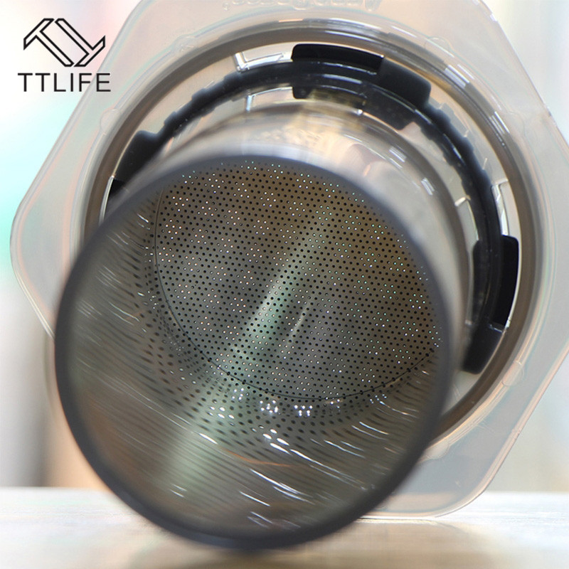 TTLIFE New 304 Stainless Steel Coffee Filter 0.2mm Round Hole Coffee Machine Filter Tools Accessories Reusable Metal Steel Mesh