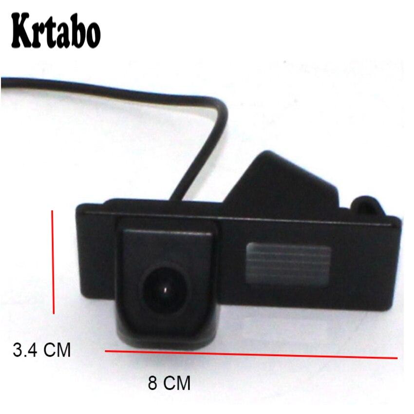 Otomobiller ve Motosikletler'ten Araç Kamerası'de Krtabo FIAT 500 Için (2007 2008 2009 2010 2011 2012 2013 2014 2015) yüksek Kaliteli Ters geri görüş kamerası Full HD Araba park kamerası title=