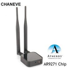 Беспроводная сетевая карта Atheros AR9271 чипсет 150 Мбит/с беспроводной USB Wi-Fi адаптер с 2 антеннами для Kali Linux/Windows/8/10
