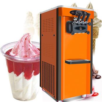 Maszyna do lodów kolorowych do restauracji lody biznesowe trzy głowice z uniwersalnym kołem 220V 110V cyfrowy System sterowania tanie i dobre opinie Linboss 1501 ml BL25Q Chłodzenie powietrzem 6 5L *2 2000w 220V 110V 50 60 Hz 56*71 5*138cm 110kg R22 R410A